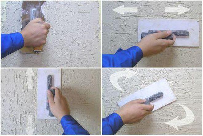 Штукатурка короед: технология отделки фасада