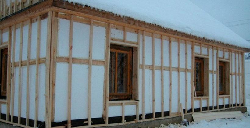 Поэтапное выполнение теплоизоляции каркасного дома пенопластом своими руками