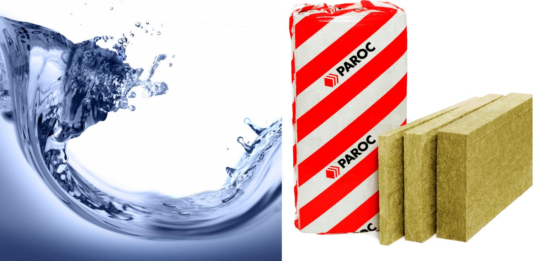 Базальтовая вата и вода