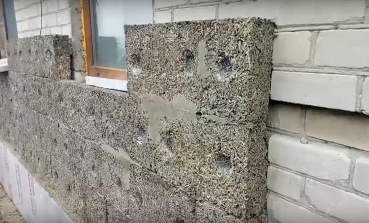 утепление стены арболитом