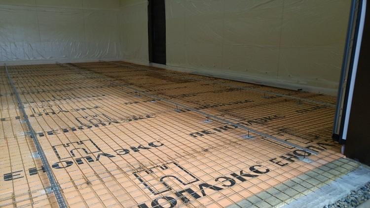 пеноплекса под ламинат с стяжкой бетонной